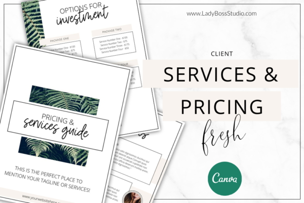 Fresh Services & Pricing Feature Image