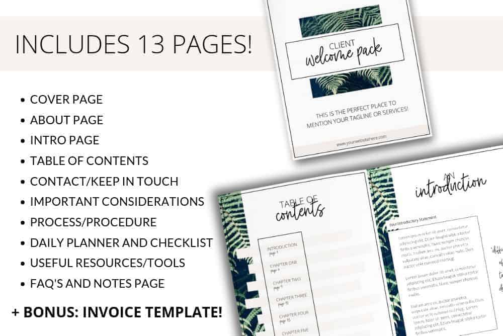 Fresh Client Welcome Pack Templates for Canva