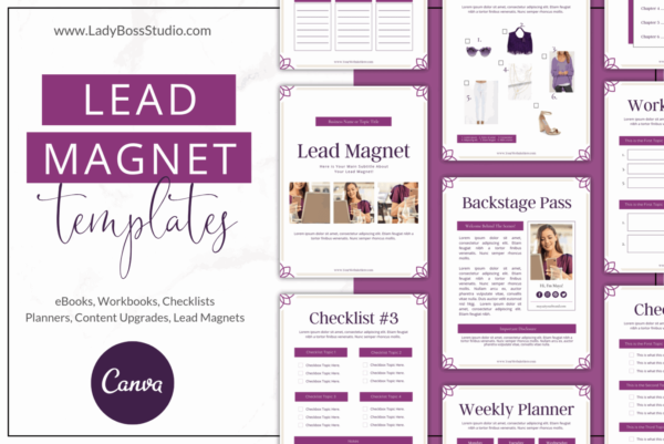 Plum Lead Magnet and Freebie Templates
