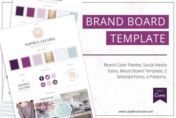 Plum Brand Board Template