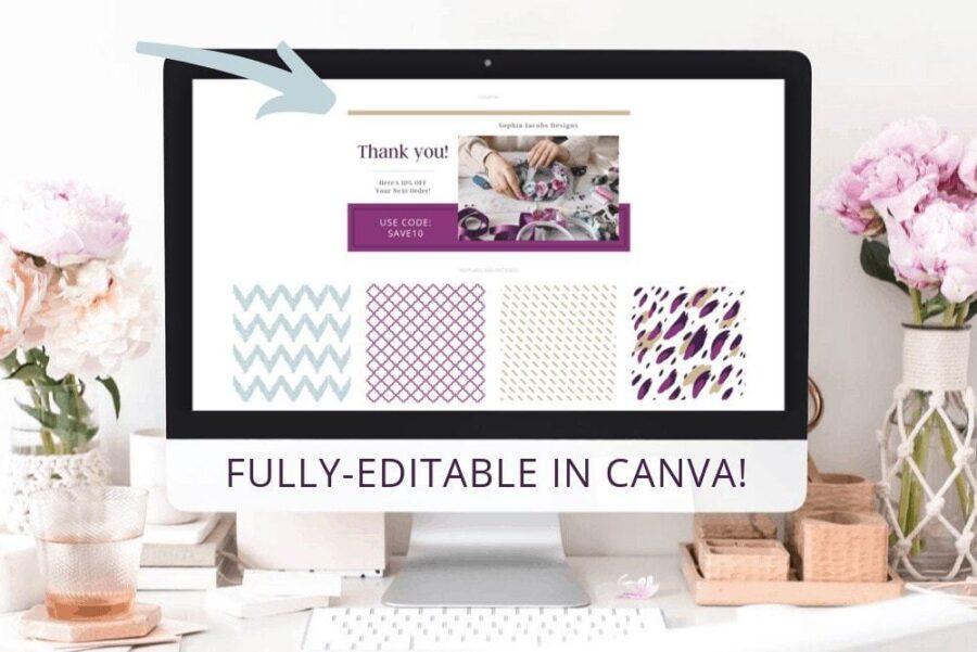 Plum Etsy Branding Kit