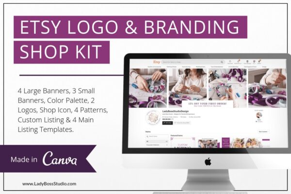 Plum Etsy Branding Kit