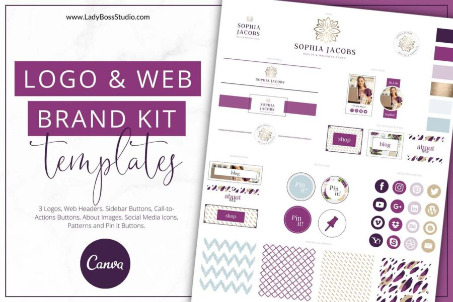 Plum Website Branding Kit Templates