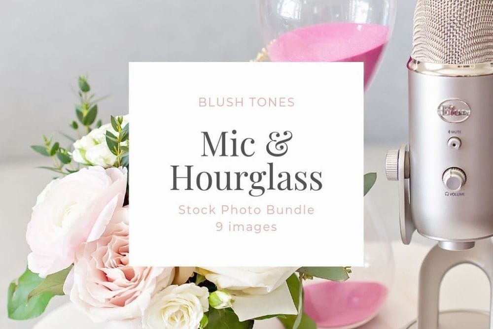 Monthly Stock Photo Bundle - Mic and Hourglass