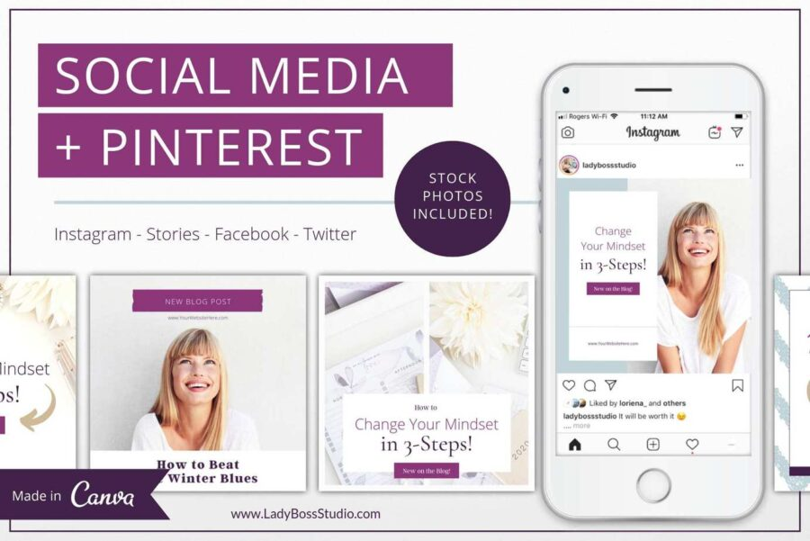 Plum Social Media & Pinterest Templates