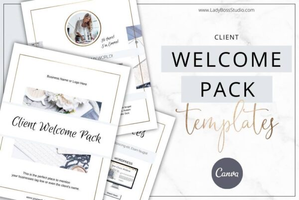 Modern Gold Welcome Pack Templates