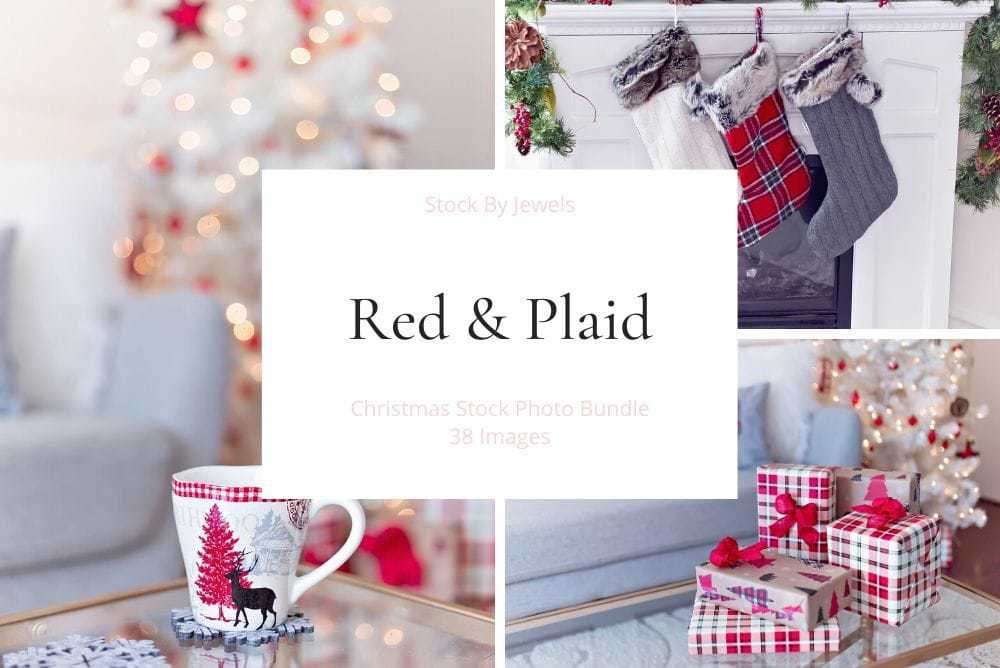 Red & Plaid - December Stock Photo Bundle