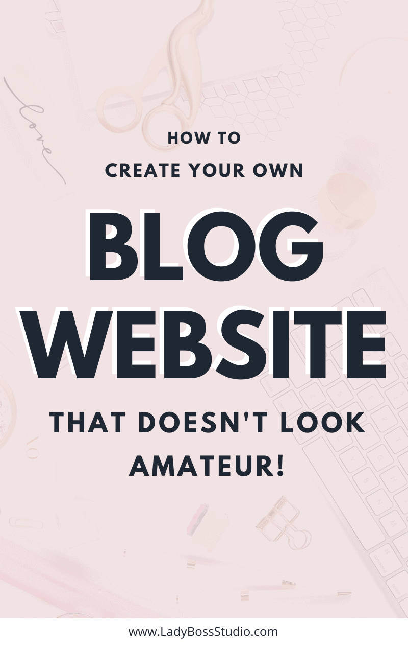 Start Your Own Blog or WordPress Website