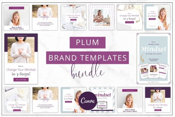 Perfect Plum Brand Templates Bundle