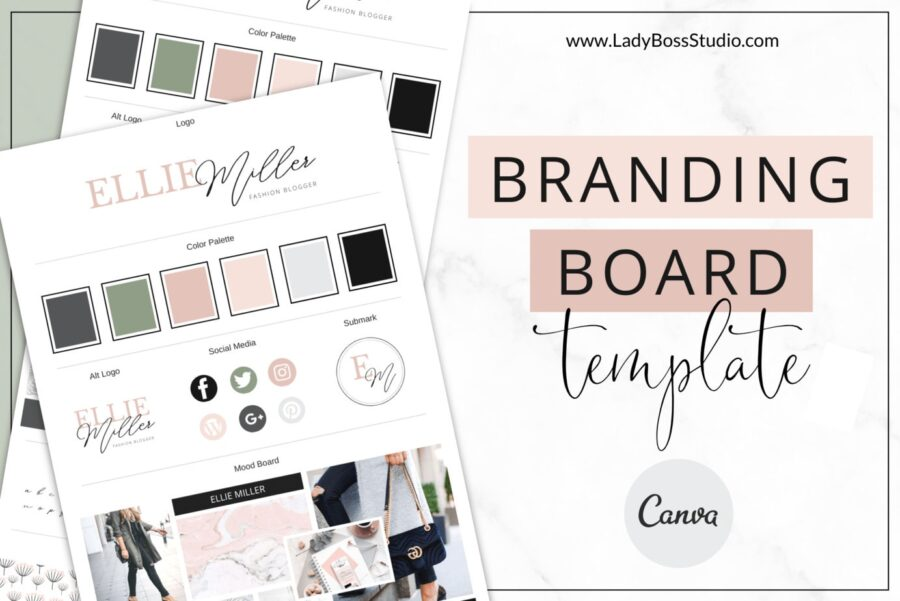 Uptown Branding Board Templates