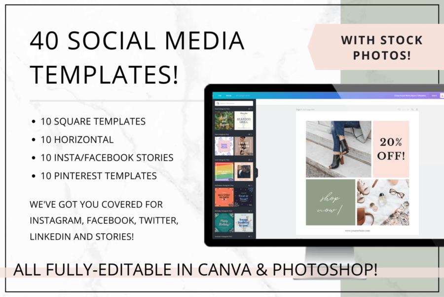 Uptown Social Media & Pinterest Templates