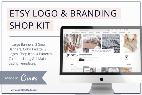 Rose Gold Etsy Branding Feature Image