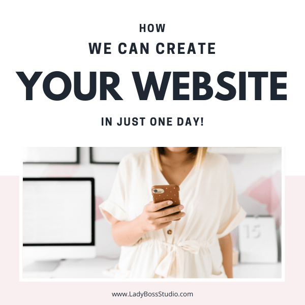 How we create your Website in One Day