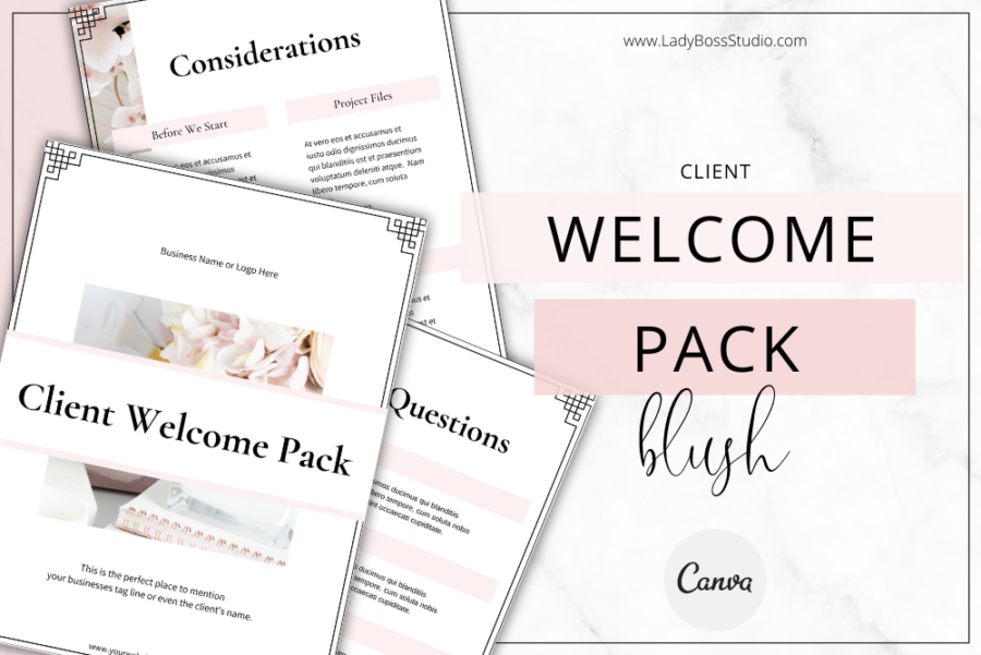 Blush Client Welcome Pack