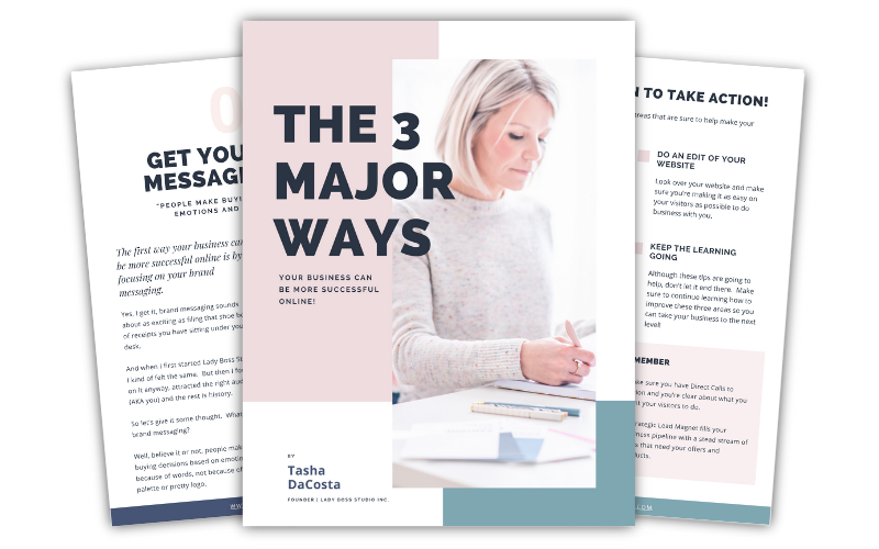 FREE PDF - The 3 major ways your business can be more successful online