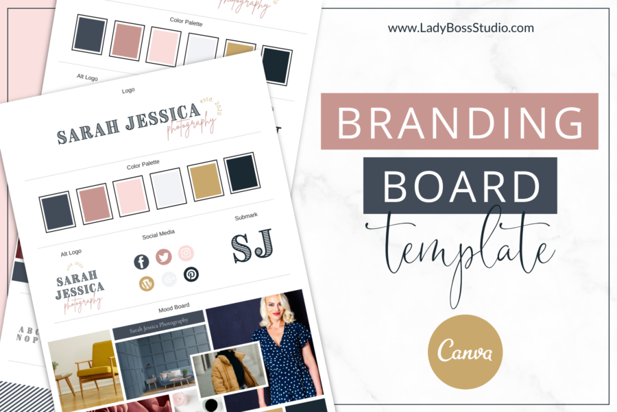 Vintage Brand Board Templates Feature Images