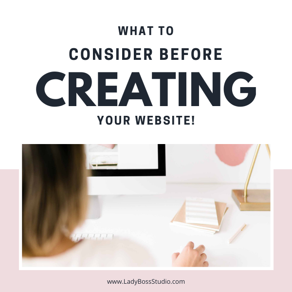 What To Consider Before Creating Your Website Feature Image