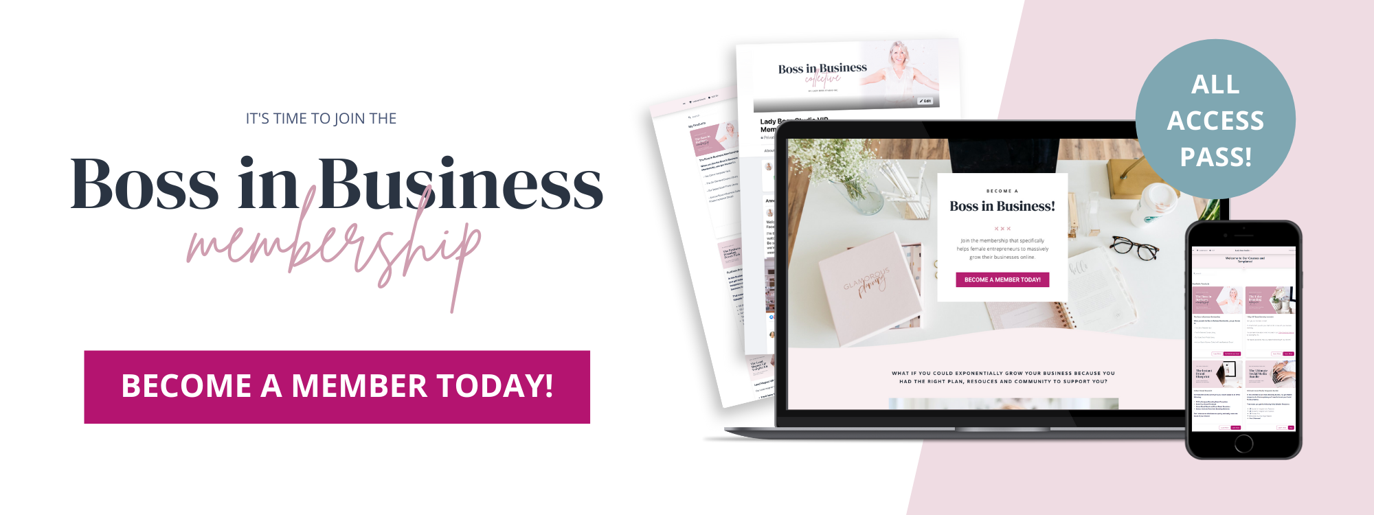 Join the Boss in Business Membership Today!