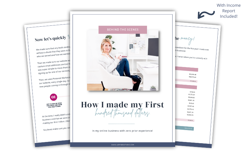 Behind the Scenes Guide to making 100k in my online business!