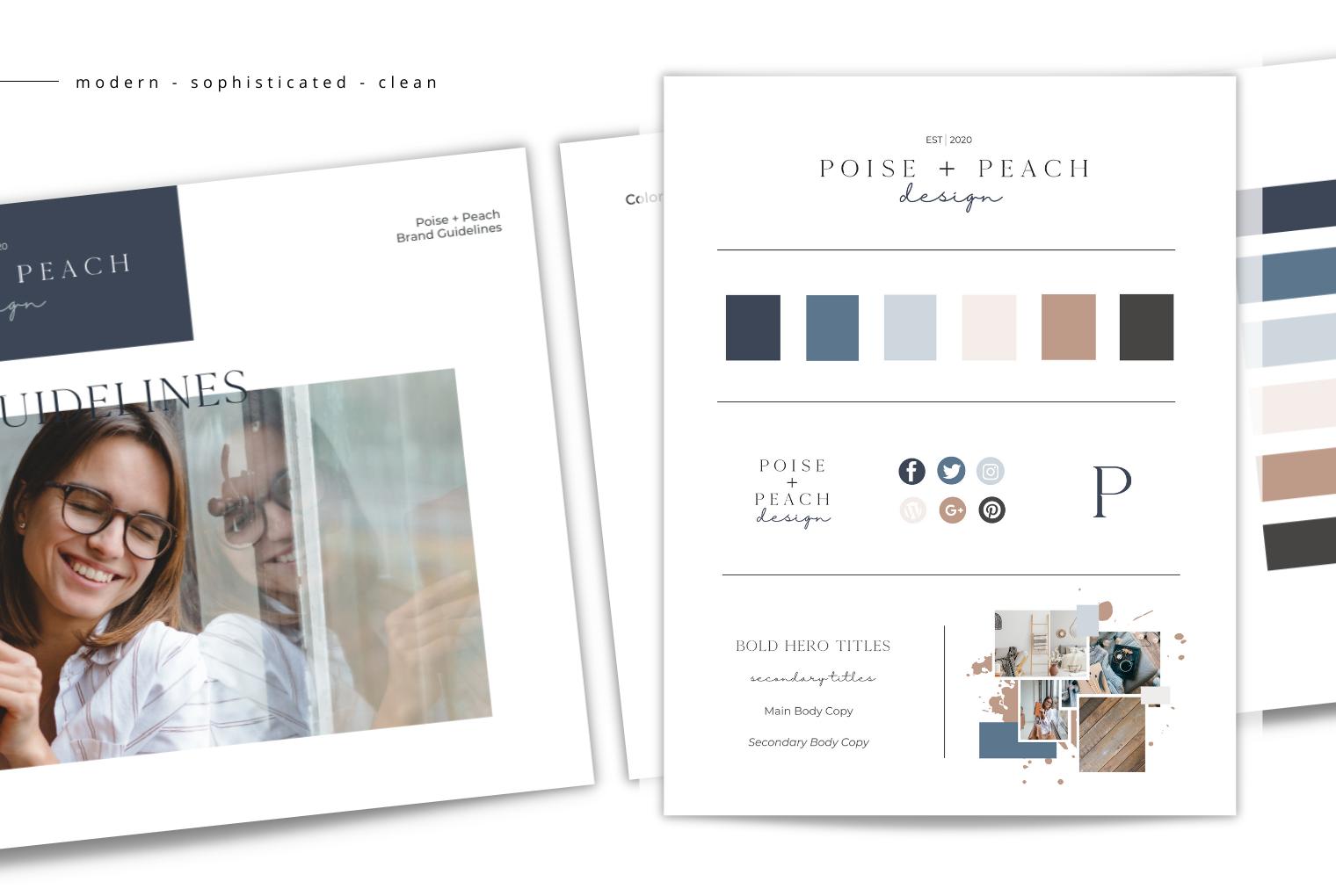 Poise + Peach Semi-Custom Brand Design