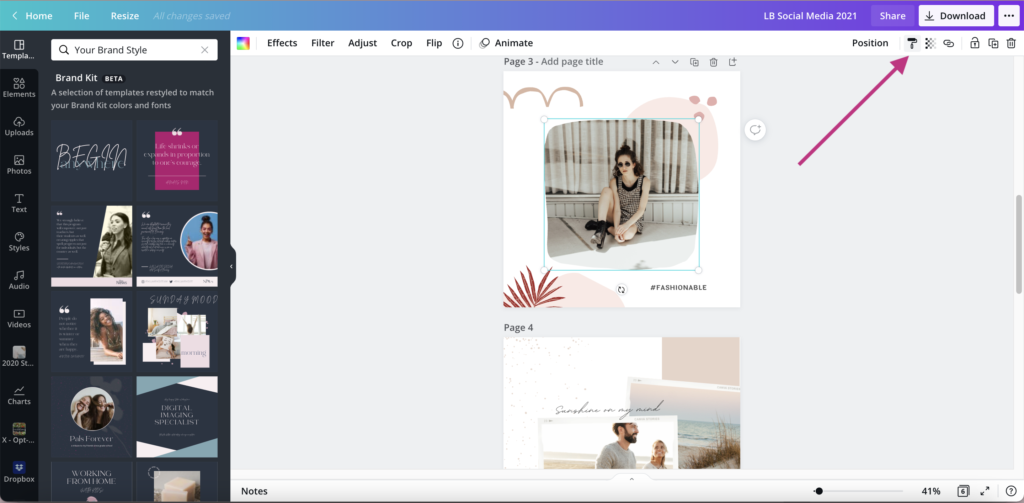 Canva Copy Style Feature Social Media Graphics