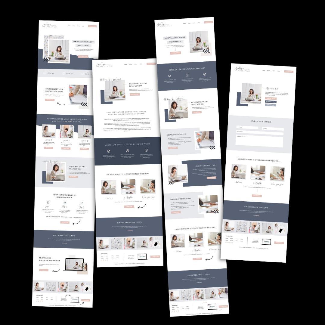 Website Launch Group Intensive - Template 2
