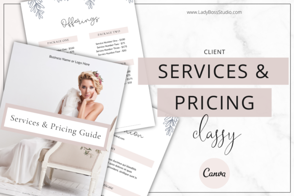 Classy Pricing and Services Feature Images