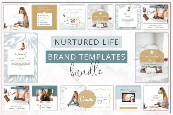 Nurtured Life Branding Bundle Feature Image