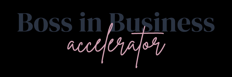 Boss in Business Accelerator Logo